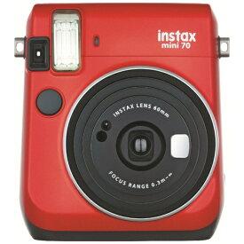 富士フイルム FUJIFILM インスタントカメラ 『チェキ』 instax mini 70N レッド[チェキ 本体 カメラ INSMINI70NRED]