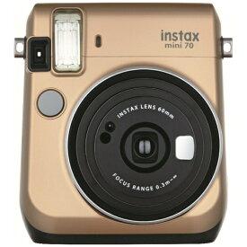 富士フイルム FUJIFILM インスタントカメラ 『チェキ』 instax mini 70N ゴールド[チェキ 本体 カメラ INSMINI70NGOLD]