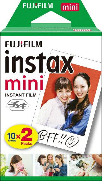 フジフイルム FUJIFILM チェキ インスタントカラーフィルム instax mini 2パック(10枚入×2)