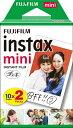 富士フイルム FUJIFILM チェキ インスタントカラーフィルム instax mini 2パック(10枚入×2)[INSTAXMINIJP2]