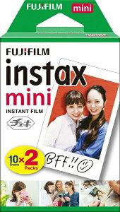 富士フイルム FUJIFILM チェキ インスタントフィルム カラー instax mini ホワイト [10枚 /2パック][チェキ用フィルム20枚 INSTAXMINIJP2]
