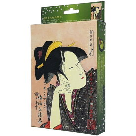日本マスクパック 歌麿ライン椿油+抹茶エッセンスマスク