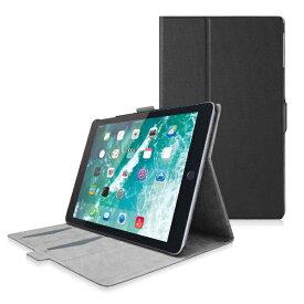 エレコム ELECOM iPad 9.7インチ(第6/5世代)用 フラップカバー ソフトレザー フリーアングル スリープ対応 ブラック TB-A18RWVFUBK