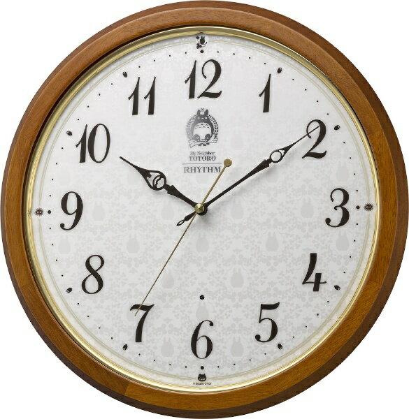 リズム時計 RHYTHM 電波掛け時計 「トトロM534」 8MY534MN06 8MY534MN06