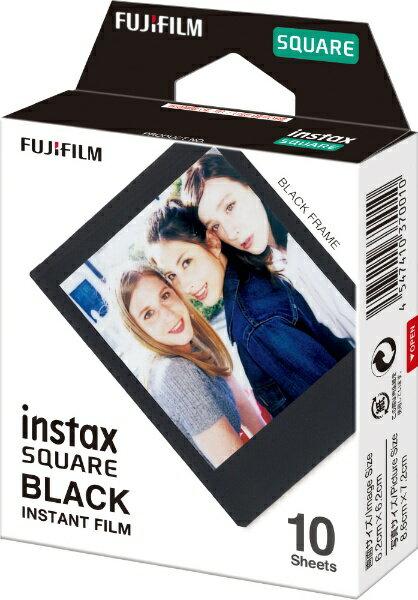 富士フイルム FUJIFILM チェキ インスタントカラーフィルム チェキスクエア用フィルム 「instax SQUARE BLACK」 1パック(10枚入)