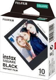 富士フイルム FUJIFILM チェキ インスタントフィルム カラー instax SQUARE BLACK(ブラック) [10枚 /1パック][チェキ用フィルム]