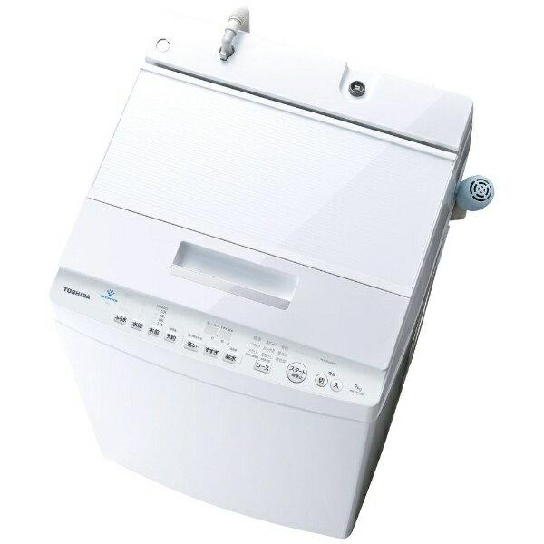 東芝 TOSHIBA 【8%OFFクーポン配布中! 03/20 23:59まで】AW-7D7(W) 全自動洗濯機 ZABOON(ザブーン) グランホワイト [洗濯7.0kg /乾燥機能無 /上開き][AW7D7W]【洗濯機】