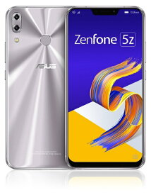 ASUS エイスース Zenfone 5Z Series スペースシルバー ZS620KL-SL128S6 Snapdragon 845 6.2型ワイド メモリ/ストレージ: 6GB/128GB nanoSIM x2 DSDV対応 ドコモ/au/ソフトバンクSIM対応 SIMフリースマートフォン[スマホ 本体 新品 ZS620KLSL128S6]