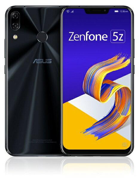 ASUS エイスース Zenfone 5Z Series シャイニーブラック ZS620KL-BK128S6 Snapdragon 845 6.2型ワイド メモリ/ストレージ: 6GB/128GB nanoSIM x2 DSDV対応 ドコモ/au/ソフトバンクSIM対応 SIMフリースマートフォン[スマホ 本体 新品 ZS620KLBK128S6]
