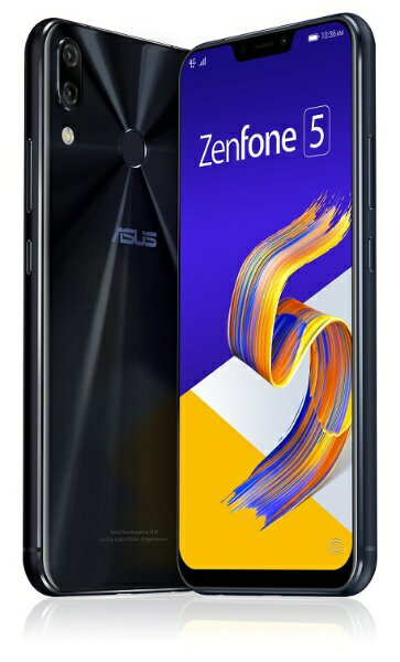 ASUS エイスース Zenfone 5 Series シャイニーブラック ZE620KL-BK64S6 Snapdragon 636 6.2型ワイド メモリ/ストレージ: 6GB/64GB nanoSIM x2 DSDV対応 ドコモ/au/ソフトバンクSIM対応 SIMフリースマートフォン[スマホ 本体 新品 ZE620KLBK64S6]