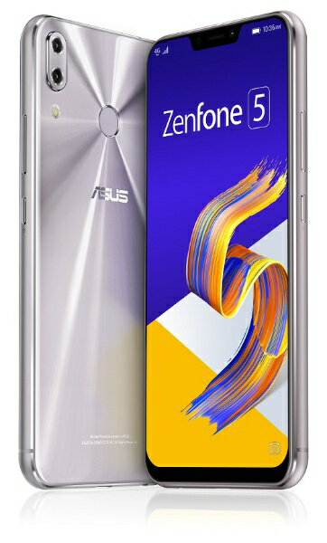 ASUS エイスース Zenfone 5 Series スペースシルバー ZE620KL-SL64S6 Snapdragon 636 6.2型ワイド メモリ/ストレージ: 6GB/64GB nanoSIM x2 DSDV対応 ドコモ/au/ソフトバンクSIM対応 SIMフリースマートフォン[スマホ 本体 新品 ZE620KLSL64S6]