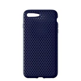 HAMEE ハミィ iPhone 8 Plus / 7 Plus用 AndMesh メッシュiPhoneケース ネイビー
