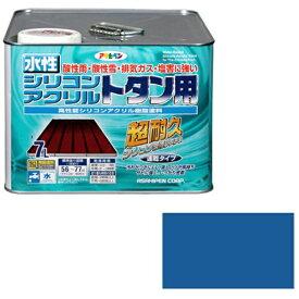 アサヒペン 水性シリコンアクリルトタン用 7L (スカイブルー)