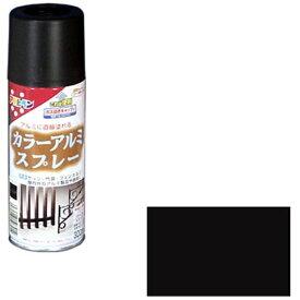 アサヒペン カラーアルミスプレー 300mL (ツヤ消し黒)