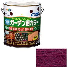 アサヒペン 水性ガーデン用カラー 3L (ワインレッド)