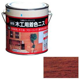 アサヒペン 木工用着色ニス 0.7L (マホガニー)