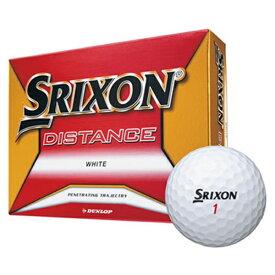 ダンロップ DUNLOP ゴルフボール スリクソン DISTANCE ホワイト SNDISJM8WH12 [12球(1ダース) /ディスタンス系]【オウンネーム非対応】
