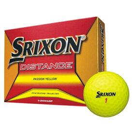 ダンロップ DUNLOP ゴルフボール スリクソン DISTANCE パッションイエロー SNDISJM8YLL12 [12球(1ダース) /ディスタンス系]【オウンネーム非対応】
