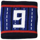 JFA サッカー日本代表 応援グッズ リストバンド ナンバー(#9)O-209
