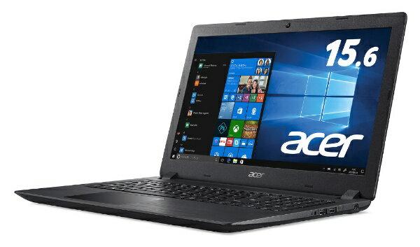 ACER エイサー A315-32-N14U/K ノートパソコン Aspire 3 シェールブラック [15.6型 /intel Celeron /SSD:256GB /メモリ:4GB /2018年5月モデル][A31532N14UK]