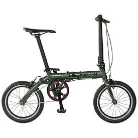 HEAD ヘッド 【組立商品返品不可】16型 ノーパンク折りたたみ自転車 FOCO(マットグリーン/シングルシフト) FDR-CC-HE160AL※在庫有でもお届けにお時間がかかります 【代金引換配送不可】