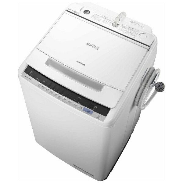 日立 HITACHI 【8%OFFクーポン配布中! 03/20 23:59まで】全自動洗濯機 (洗濯8.0kg) BW-V80C ホワイトビートウォッシュ[BWV80C]【洗濯機】