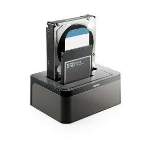 ロジテック Logitec ハードディスクスタンド 2.5/3.5インチ 2BAY[USB3.0/SATA・Mac/Win] エラースキップ搭載 2BAY Duplicator HDD/SSDスタンド LGB-2BDPU3ES ブラック [2台]
