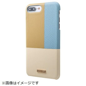 坂本ラヂヲ iPhone 8 Plus / 7 Plus用 Nudy Leather Case Limited CLC2206PLBL Blue