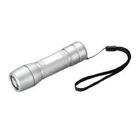 ヤザワ YAZAWA 懐中電灯 シルバー Y06A13SV [LED /単4乾電池×3 /防水]