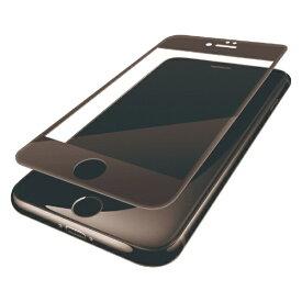 エレコム ELECOM iPhone8 (4.7) フィルム フルカバー 衝撃吸収 防指紋 光沢