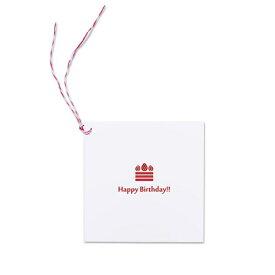 富士フイルム FUJIFILM Photo Gift Tag WH Birthdayケーキ ましかくサイズ(89×89mm)用