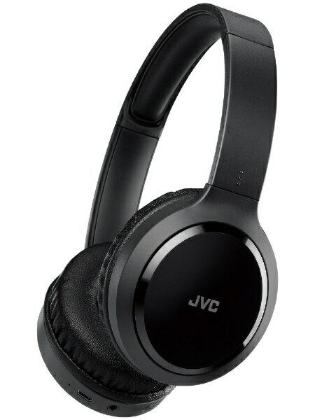 JVC ジェイブイシー ブルートゥースヘッドホン HA-S78BN ブラック [USB /ノイズキャンセリング対応][HAS78BN]