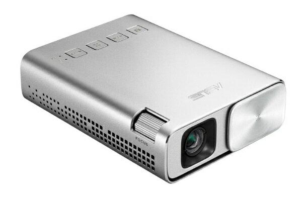 ASUS エイスース ZenBeam E1-J ポケット LED プロジェクター(小型ミニ/150ルーメン/6000mAhバッテリー内蔵/5時間の投影時間/パワーバンク/ HDMI MHL対応) E1-J シルバー[E1J]