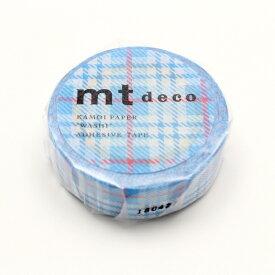 カモ井加工紙 KAMOI MT01D421 チェック・ライトブルー MT01D421