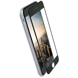 OWLTECH オウルテック iPhone 8 / 7 6s 6用 クリアでフチが欠けない 全面保護 強化ガラス OWL-GPIP7SF-BCL ブラック