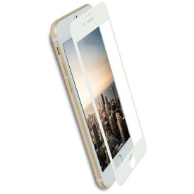 OWLTECH オウルテック iPhone 8 / 7 6s 6用 クリアでフチが欠けない 全面保護 強化ガラス OWL-GPIP7SF-WCL ホワイト