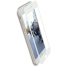 OWLTECH オウルテック iPhone 8 / 7 6s 6用 フチが欠けない ブルーライトカット 全面保護 強化ガラス アンチグレア OWL-GPIP7SF-WAB ホワイト