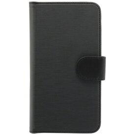 OWLTECH オウルテック スマートフォン用[幅 74mm/5.2インチ] ヘアライン手帳型マルチケース STD OWL-CVMUM13-BK ヘアライン × ブラック