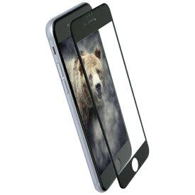 OWLTECH オウルテック iPhone 8 / 7 6s 6用 クリアで画面鮮やか 全面保護 耐衝撃ガラス OWL-GTIP7SF-BCL ブラック