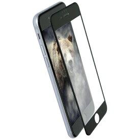 OWLTECH オウルテック iPhone 8 / 7 6s 6用 太陽光や照明の反射を抑える アンチグレアタイプ 全面保護 耐衝撃ガラス OWL-GTIP7SF-BAG ブラック