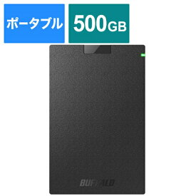 BUFFALO バッファロー HD-PCG500U3-BA 外付けHDD ブラック [ポータブル型 /500GB][HDPCG500U3BA ハードディスク テレビ]