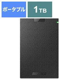 BUFFALO バッファロー HD-PCG1.0U3-BBA 外付けHDD ブラック [ポータブル型 /1TB][HDPCG1.0U3BBA ハードディスク テレビ]