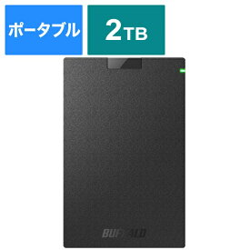 BUFFALO バッファロー HD-PCG2.0U3-GBA 外付けHDD ブラック [ポータブル型 /2TB][HDPCG2.0U3GBA]