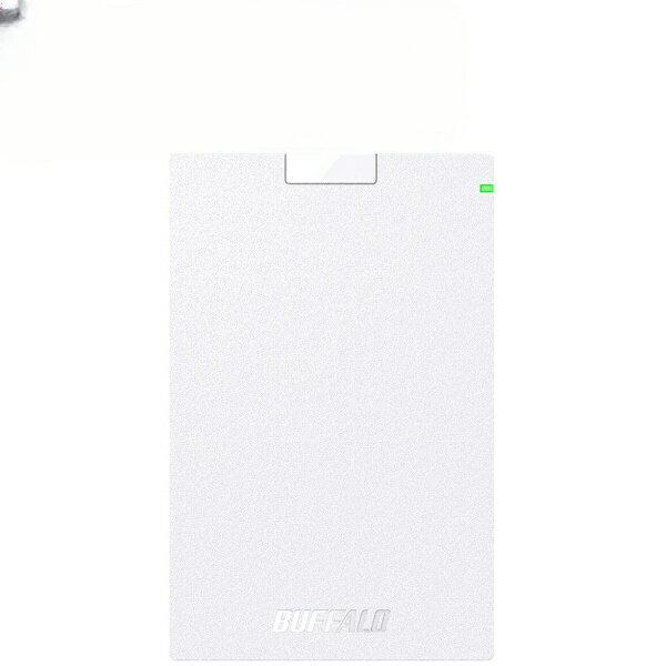 BUFFALO バッファロー HD-PCG2.0U3-GWA 外付けHDD MiniStation HD-PCGU3-Aシリーズ ホワイト [ポータブル型 /2TB][HDPCG2.0U3GWA]