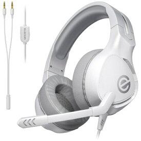 エレコム ELECOM HS-G01WH ゲーミングヘッドホン ホワイト [φ3.5mmミニプラグ /両耳 /ヘッドバンドタイプ][HSG01WH]