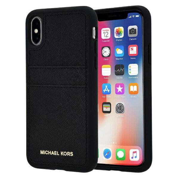 【送料無料】 マイケルコース MICHAEL KORS iPhone X Black Pocket Case 32H7GZ3L2T-001 ブラック