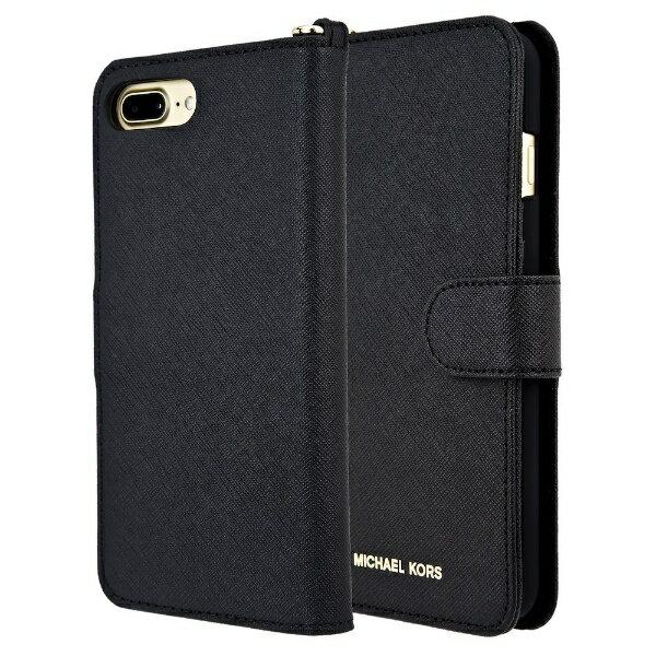 【送料無料】 マイケルコース MICHAEL KORS iPhone 7Plus/8Plus Black Leather Folio 32S7GZ3L9L-001 ブラック 手帳型ケース 32S7GZ3L9L-001 ブラック