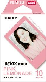 富士フイルム FUJIFILM チェキ インスタントフィルム カラー instax mini PINK LEMONADE(ピンクレモネード) [10枚 /1パック]