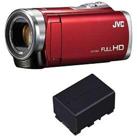 JVC ジェイブイシー GZ-E235-R ビデオカメラ Everio(エブリオ) [フルハイビジョン対応][GZE235R]