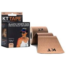KT TAPE ケーティーテープ キネシオロジーテープ KT TAPE COTTON ロールタイプ(ベージュ/テープサイズ:5cm×25cm・12枚入り)KTC980BE